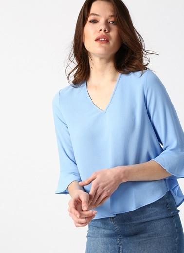 Koton Koton Açık Mavi Bluz Mavi